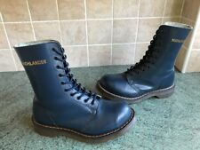 Rare! Vtg England Dr. Martens Highlander Navy Blue Leather Boots Size UK4, EU37