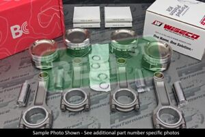 Wiseco Pistons Brian Crower I Beam Rods VTEC B18A B18B W B16A Head 81.5mm 12.3:1