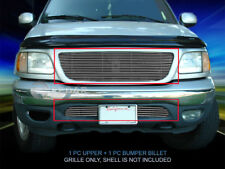 Fits 1999-2003 Ford F-150/Expedition 2WD Billet Grille Grill Combo-2pcs