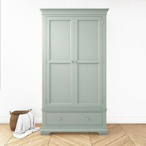 2 Door 1 Drawer Wardrobe in Sage - Olivia