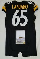 #65 Al Lapuaho of Pittsburgh Steelers NFL Locker Room Team Issued Jersey