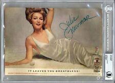 JULIE NEWMAR SIGNED 11x8 1962 SMIRNOFF MAGAZINE ADVERTISEMENT RARE BECKETT BAS