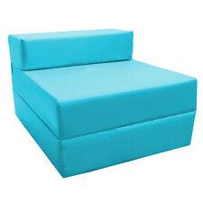 turquoise replié lit Z futon enfants Soirée pyjama invité Chaise canapé-lit
