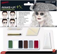 Vestito per Halloween Ghost NAVE MAKE UP PITTURA VISO SET 6 colori