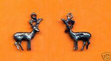 20 wholesale lead free pewter deer charms 1083
