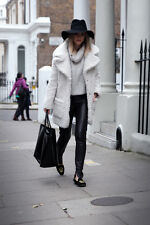 TOPSHOP BORG FLUFFY TEDDY COAT SIZE UK10/EUR38/US6