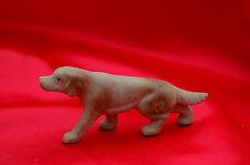 Antique Porcelain English Setter hunting duck gun dog red white irish setter*