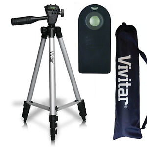 "50"" PRO VIVITAR TRIPOD + REMOTE FOR CANON EOS REBEL NIKON DSLR SONY ALPHA DSLR"