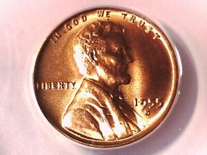 1955 S Lincoln Wheat Cent Penny ANACS MS 65 RD 5108427