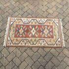 Vintage Traditional Hand Made Turkish Wool Rug Carpet Turkiye Anatolian 141x86cm