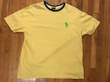 Polo By Ralph Lauren T-Shirt (Size XL) Big Pony Yellow Green Blue Used