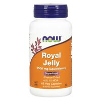 Now Foods Royal Jelly 60 Veg Capsules FREE Shipping Made in USA FRESH