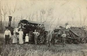 NEBRASKA, CLARKSON.  Agriculture.  Reeves Steam Tractor and Harvester. 1915