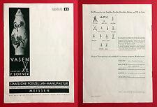 Katalog Nr. 83 Porzellan Manufaktur MEISSEN Vasen von Prof. Börner RAR ( F15057
