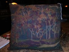 Trees Theme Woodland Lodge Cabin Ranch Farm Throw Pillow Rustic decor