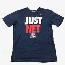 Nike Arizona Wildcats Shirt Size Medium M Regular Fit Blue Red Basketball Tee
