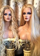"Awesome LACE FRONT 36"" Long Straight Blonde Blends, Wig, See Curly Version Too!!"