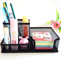Pen Pencils Mesh Holder Stationery Container Desk Tidy Organiser Office School