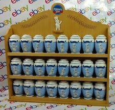 Pillsbury Dough Boy Danbury Mint Spice Rack 24 Porcelain Jars Complete 2002 Rare