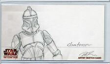 TROOPER Topps STAR WARS CLONE WARS Widevision SKETCH by DARIN RADIMAKER *50 MADE