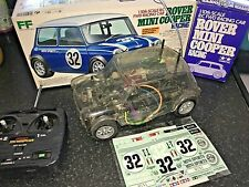 VINTAGE TAMIYA RC CAR 1/10TH SCALE ROVER MINI COOPER RACING BOXED 58211-9800