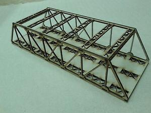 Model Railway Twin Track Girder Bridge Kit OO Gauge Laser Cut 3mm MDF 40cms