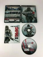 Sniper Ghost Warrior 2 BulletProof STEELBOOK Edition w/ Splicover for PS3