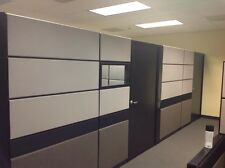 "Teknion TOS cubicles 80"" tall 10'x10,8'x8' Private office/glass/doors/LOADED"