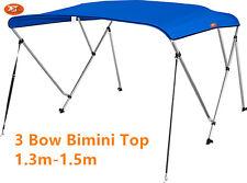 Jetocean 3 Bow 1.3-1.5m Boat Bimini Top Cover Blue Canopy 1.8m Length