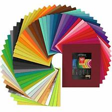 Arteza Felt Fabric Sheets, Set of 50 Colors, 12 x 14 Inches, Assorted Soft and S