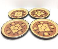 "8501 Noritake SAFARI Folkstone Dinnerware Service 8 1/8"" SALAD PLATES Set of 4"