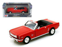 1964 Ford Mustang Convertible Red 1:24 Diecast Model - Motormax - 73212RD*