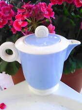 CAFETIERE THEIERE ANCIENNE DIGOIN SARREGUEMINE **Art déco**  ivoire & bleu .