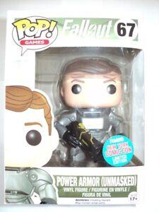 Funko Pop! Vinyl Fallout 67 Power Amor (Unmasked) Comic Con SDCC 2015 MISB