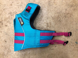 Ruffwear Life Jacket Vest for your Dog in Blue with Pink Trim Size Small