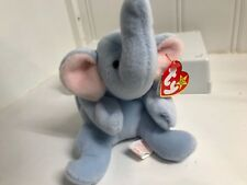 ~PEANUT the Blue ELEPHANT Ty Beanie Babies baby plush toy new with tags