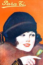 Para Ti Spanish Argentina Art Cover Beautiful Girl Black Cap 1920 Matted Print