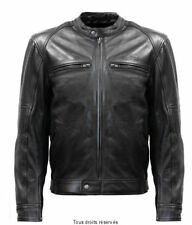 Blouson Moto Cuir Homme Vintage Protections Coudes-Epaules-Dos S-line