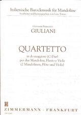 Giuliani - Quartetto C-Dur für 2 Mandolinen, Flöte und Viola