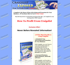 Craigslist Exposed Business For Sale w/ Website & Software and Resell Rights