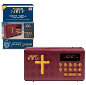 Wonder Bible As Seen on TV Audio Player Rechargeable KJV Old & New Testaments