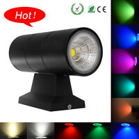 10W RGB LED Dual-Head Wall Mount Light Sconce Indoor/Outdoor Waterproof 6 Color