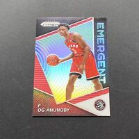 OG Anunoby 2017-18 Panini Prizm Silver Emergent Rookie Card RC - Future Star!
