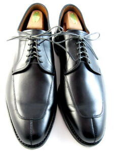 "Allen Edmonds ""DELRAY"" Split-toe Lace-Up Blucher Oxfords 12 B Black USA (523)"