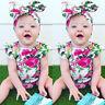 Floral Newborn Baby Girl Bodysuit Romper Jumpsuit Clothes Outfits Sunsuit US wea