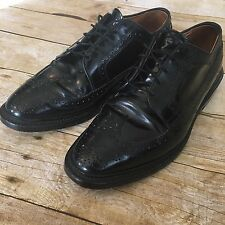 Allen Edmonds MacNeil 9 E Black Wingtip Men's Dress Shoes * EUC