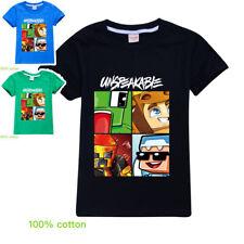 UNSPEAKABLE  boys black blue green summer tee t-shirt top size 5-15