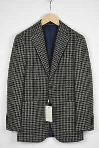 RRP $499 SUITSUPPLY HAVANA PATCH FL Men UK36R Wool Blend Checked Blazer 16160*