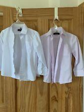 Boys Lot of 2 Shirts Sz 6 Long Sleeve Button-Down White&Lt Pink, School Uniform