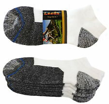 4 PK LOWCUT PREMIUM QUALITY HEAVY THICK SOCKS COTTON WHITE BLACK NO SHOW SOCKS
